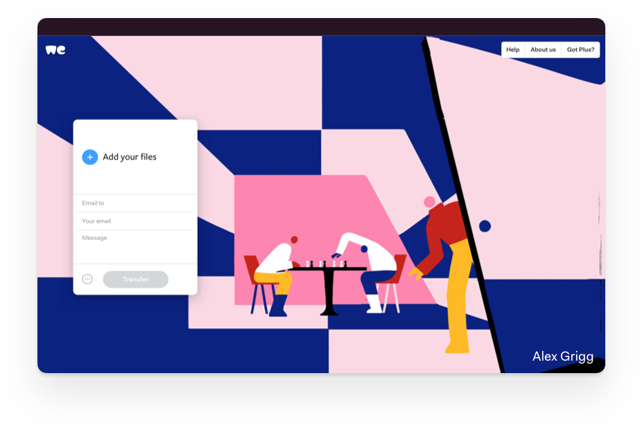 file wetransfer con ipad
